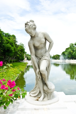 naked statue: Female nude statue made of marble  Stock Photo