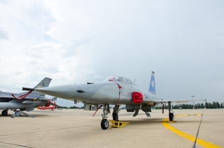 BANGKOK - JULY 2 : F-5 E on display at 1912-2012 Centennial of RTAF (Royal Thai Air Force) Forefathers