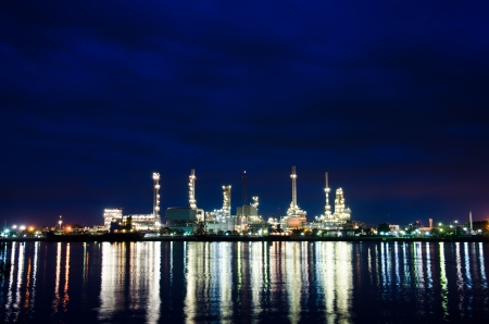 Oil refinery plant in the dawn  photo