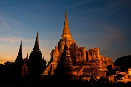 Pagoda at Wat Phra Sri Sanphet Temple  is world heritage, Ayutthaya, Thailand Stock Photo - 15901371