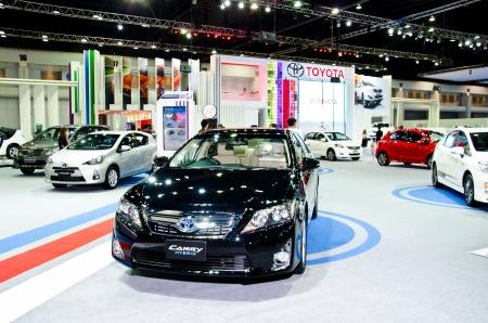 NONTHABURI - NOVEMBER 28: Toyota Camry Hybrid car on display at The 29th Thailand International Motor Expo  on November 28, 2012 in Nonthaburi, Thailand.