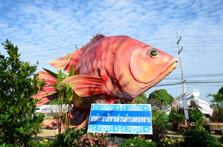 SINGBURI - DECEMBER 25: Fish Festival and one tombon one product (OTOP) of Sing Buri's the 18th on December 25, 2012 in Singburi, Thailand. Stock Photo - 16994861