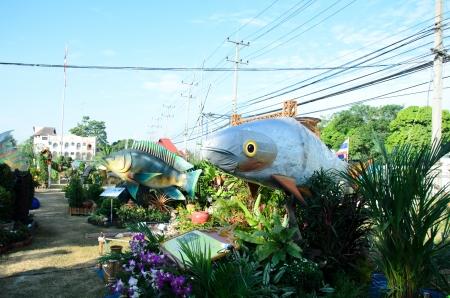singburi: SINGBURI - DECEMBER 25: Fish Festival and one tombon one product (OTOP) of Sing Buris the 18th on December 25, 2012 in Singburi, Thailand.