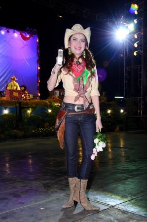 singburi: SINGBURI - JANUARY 2: Unidentified model display on Miss cowgirl contest of cowboy festival January 2, 2013 in Singburi, Thailand.