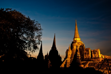 Pagoda at Wat Phra Sri Sanphet Temple is world heritage, Ayutthaya, Thailand photo
