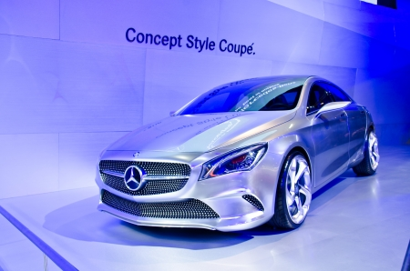 BANGKOK - MARCH 26 : The 2012 Mercedes-Benz Style Coupe Concept car on display at The 34th Bangkok International Motor Show 2013 on March 26, 2013 in Bangkok, Thailand. 에디토리얼