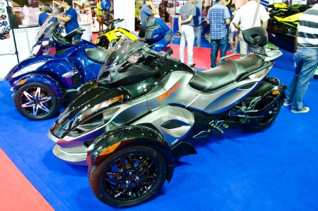BANGKOK - MARCH 28 : The Can-Am Spyder RS on display at The 34th Bangkok International Motor Show 2013 on March 28, 2013 in Bangkok, Thailand. Editorial