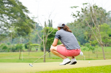 Golf Athlete watching the green