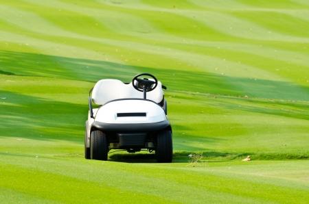 Golf cart at golf course