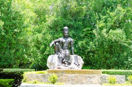 Bodhisattva statue is Tantra Mahayana Buddhist a kind of art that was common during the Song Dynasty in China  Stock Photo