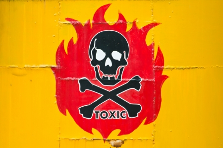 danger sign with skull symbol Stock Photo - 19991606