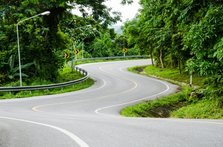 Winding road on the mountain  photo