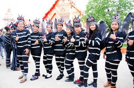 dengue: SINGBURI, Thailandia - 13 settembre: i volontari non identificato e l'ufficiale si trova a breve campagna di sensibilizzazione epidemia di febbre dengue, il 13 settembre 2013 in Singburi, Thailandia. Editoriali