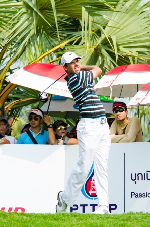 CHONBURI - DECEMBER 15 : Charl Schwartzel of South Africa player in Thailand Golf Championship 2013 at Amata Spring Country Club on December 15, 2013 in Chonburi, Thailand.