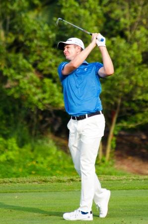 CHONBURI - DECEMBER 15 : Justin Rose of Englandin Thailand Golf Championship 2013 at Amata Spring Country Club on December 15, 2013 in Chonburi, Thailand.