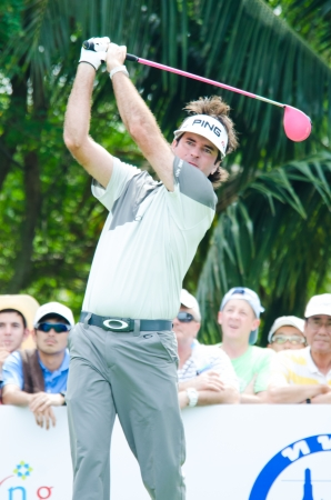 CHONBURI - DECEMBER 14 : Bubba Watson of USA player in Thailand Golf Championship 2013 at Amata Spring Country Club on December 14, 2013 in Chonburi, Thailand. Editorial