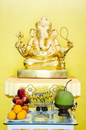 Golden Ganesha statues photo