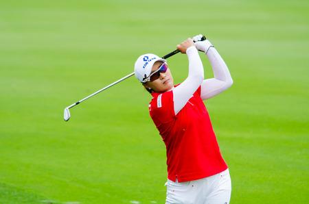 ri: CHONBURI - FEBRUARY 23  Se Ri Pak golfer from South Korea in Honda LPGA Thailand 2014 at Siam Country Club, Pattaya Old Course on February 23, 2014 in Chonburi, Thailand