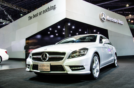 BANGKOK - MARCH 24: Mercedes-Benz CLS 250 CDI Shooting Brake car on display at The 35th Bangkok International Motor Show on March 24, 2014 in Bangkok, Thailand.
