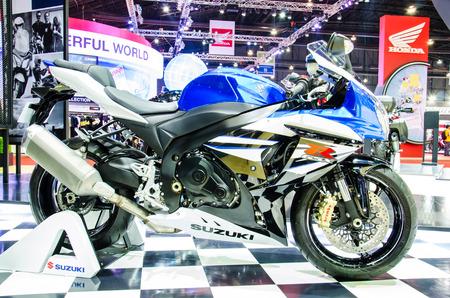 BANGKOK - MARCH 24: Suzuki GSX-R 1000 motorbike on display at The 35th Bangkok International Motor Show on March 24, 2014 in Bangkok, Thailand. Editorial