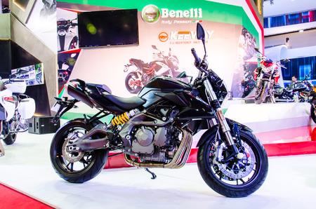 bn: BANGKOK - MARCH 24: Benelli BN 600 motorbike on display at The 35th Bangkok International Motor Show on March 24, 2014 in Bangkok, Thailand. Editorial