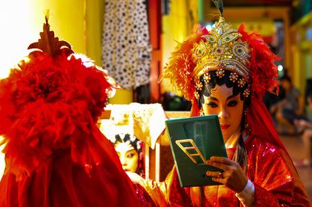 BANGKOK - OCTOBER 28: Unidentified Chinese opera actress of Thailand
