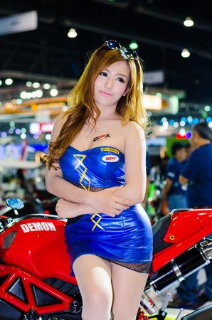 NONTHABURI - NOVEMBER 28: Unidentified model on display at Thailand International Motor Expo 2014 on November 28, 2014 in Nonthaburi, Thailand.