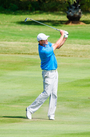 chris: CHONBURI - DECEMBER 14 : Chris Gaunt of Australia player in Thailand Golf Championship 2014 (Professional golf tournament on the Asian Tour) at Amata Spring Country Club on December 14, 2014 in Chonburi, Thailand.