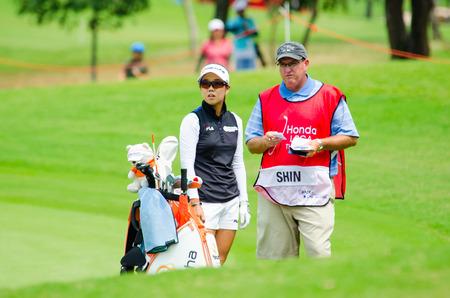 jenny: CHONBURI - MARCH 1: Jenny Shin of South Korea in Honda LPGA Thailand 2015 at Siam Country Club, Pattaya Old Course on March 1, 2015 in Chonburi, Thailand. Editorial