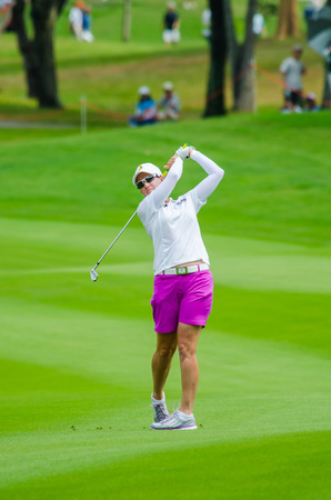webb: CHONBURI - MARCH 1: Karrie Webb of Australia in  Honda LPGA Thailand 2015 at Siam Country Club, Pattaya Old Course on March 1, 2015 in Chonburi, Thailand.