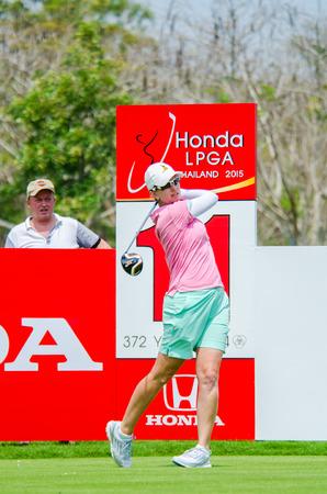 webb: CHONBURI - FEBRUARY 28: Karrie Webb of Australia in Honda LPGA Thailand 2015 at Siam Country Club, Pattaya Old Course on February 28, 2015 in Chonburi, Thailand.
