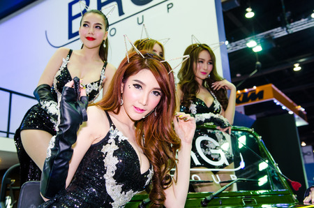 easing: NONTHABURI - MARCH 24: BRG group with Unidentified model  on display at Thailand 35th Bangkok International Motor Show 2015 on March 24, 2015 in Nonthaburi, Thailand. Editorial