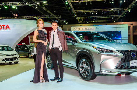 lexus: NONTHABURI - MARCH 24: Lexus NX 300 with Unidentified model  on display at Thailand 36th Bangkok International Motor Show 2015 on March 24, 2015 in Nonthaburi, Thailand. Editorial