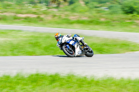 anon: NAKHON PATHOM - JULY 25 : Anon S. with Yamaha R1 motorcycle in Thailand SuperBikes Championship 2015 Round 1 at Thailand Circuit, on July 25, 2015 in Nakhon Pathom, Thailand. Editorial