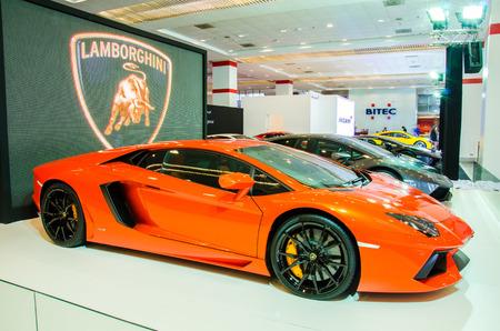 gallardo: BANGKOK - AUGUST 1 : Lamborghini Gallardo LP 550-2 on display at Bangkok International Grand Motor Sale 2015 Big Motor Sale 2015 is exhibition of vehicles for sale on August 1, 2015 in Bangkok, Thailand. Editorial