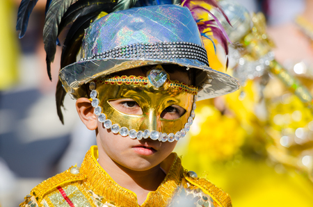 singburi: SINGBURI - NOVEMBER 27 : Parade for sporting day of The Anuban Singburi School on November 27, 2015 at Singburi, Thailand.