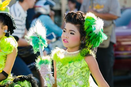 singburi: SINGBURI - NOVEMBER 27 : Parade for sporting day of The Anuban Singburi School on November 27, 2015 at Singburi, Thailand.