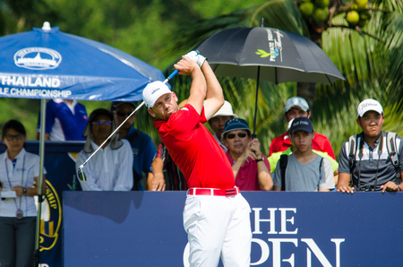 sergio: CHONBURI - DECEMBER 10 : Sergio Garcia of spain player in Thailand Golf Championship 2015 Tournament on the Asian Tour at Amata Spring Country Club on December 10, 2015 in Chonburi, Thailand.