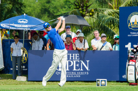 pga: CHONBURI - DECEMBER 10 : Martin Kaymer of Germany player in Thailand Golf Championship 2015 Tournament on the Asian Tour at Amata Spring Country Club on December 10, 2015 in Chonburi, Thailand. Editorial