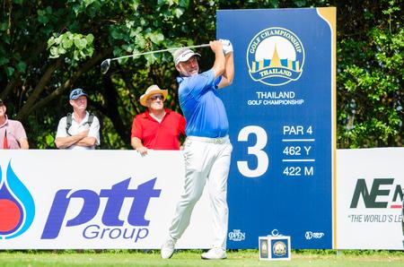 darren: CHONBURI - DECEMBER 10 : Darren Clarke of Northern Ireland player in Thailand Golf Championship 2015  at Amata Spring Country Club on December 10, 2015 in Chonburi, Thailand. Editorial