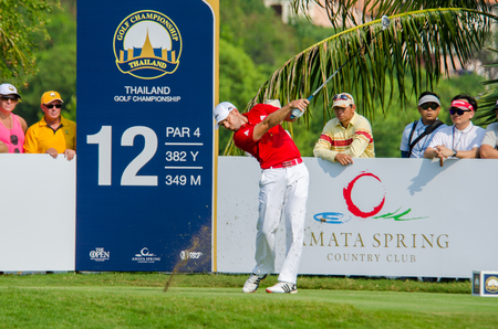 sergio: CHONBURI - DECEMBER 10 : Sergio Garcia of Spain player in Thailand Golf Championship 2015 at Amata Spring Country Club on December 10, 2015 in Chonburi, Thailand. Editorial