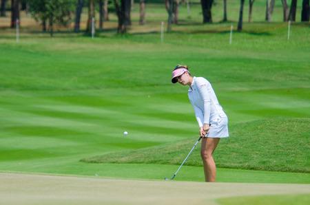 gal: CHONBURI - FEBRUARY 28 : Sandra Gal of USA in Honda LPGA Thailand 2016 at Siam Country Club, Pattaya Old Course on February 28, 2016 in Chonburi, Thailand. Editorial