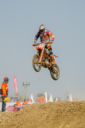 jeffrey: SUPHANBURI - MARCH 06 : Jeffrey Herlings #84 with KTM Motorcycle in competes during the FIM MXGP Motocross Wolrd Championship Grand Prix of Thailand 2016 on March 06, 2016 in Suphanburi, Thailand. Editorial