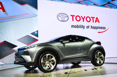 chr: NONTHABURI - MARCH 22: Toyota C-HR Concept car on display at The 37th Bangkok International Thailand Motor Show 2016 on March 22, 2016 Nonthaburi, Thailand.