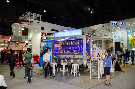 manufacturer: NONTHABURI - MAY 25 : Manufacturer showing products about food industry in during exhibition of THAIFEX - World of food ASIA 2016 on May 25, 2016 in Nonthaburi, Thailand.