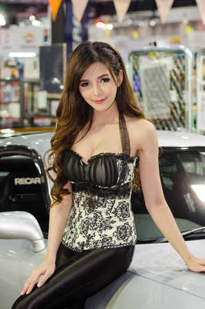 easing: NONTHABURI - JUNE 22 : Unidentified model on display at Bangkok International Auto Salon 2016 on June 22, 2016 in Nonthaburi, Thailand. Editorial