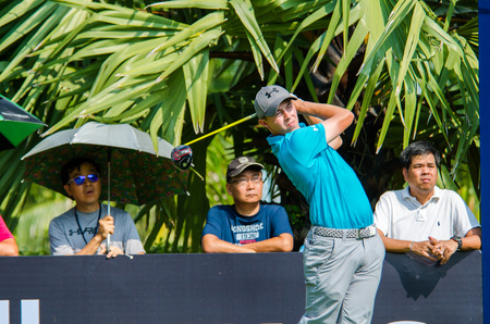 pga: CHONBURI - DECEMBER 10 : SMatthew Fitzpatrick of England player in Thailand Golf Championship 2015 (Tournament on the Asian Tour) at Amata Spring Country Club on December 10, 2015 in Chonburi, Thailand.