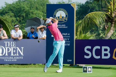 CHONBURI - DECEMBER 13 : Berry Henson of USA player in Thailand Golf Championship 2015 at Amata Spring Country Club on December 13, 2015 in Chonburi, Thailand.