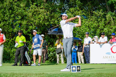 steve: CHONBURI - DECEMBER 13 : Steve Lewton of England player in Thailand Golf Championship 2015 at Amata Spring Country Club on December 13, 2015 in Chonburi, Thailand.
