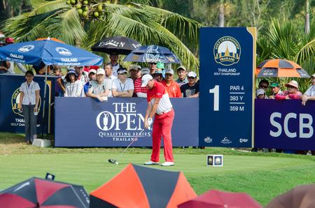 CHONBURI - DECEMBER 13 : Sam Braze of Australia player in Thailand Golf Championship 2015 at Amata Spring Country Club on December 13, 2015 in Chonburi, Thailand.